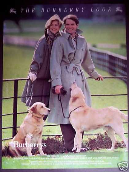 Burberrys London Fashion Yellow Lab Dogs Photo (1989)