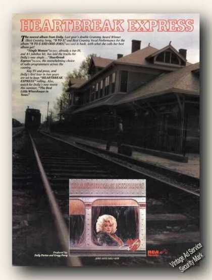 Dolly Parton Photo Heartbreak Express Album (1982)