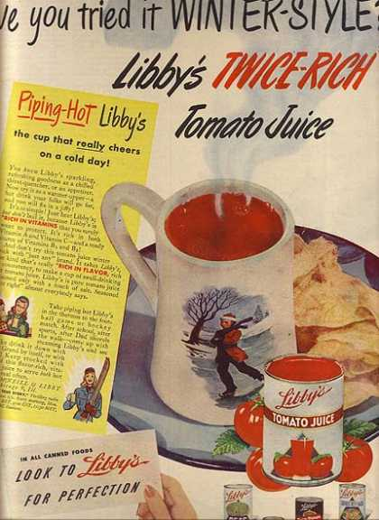 Libby's Twice-Rich Tomato Juice (1947)