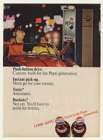 Pepsi Bottle Machine Drive Up Push-Button (1966)