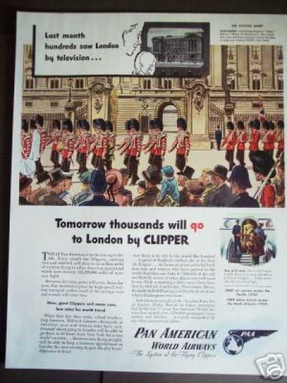 London By Tv or Clipper Plane Pan American (1945)