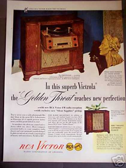 Rca Victor Slide Out Radio Phonograph (1946)
