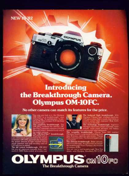 Cheryl Tiegs In Olympus Om-10fc Slr Camera C (1982)