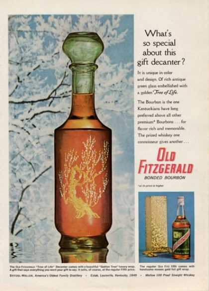 Old Fitzgerald Bourbon Gift Decanter (1964)
