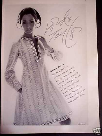 Elinor Simmons Jeweled Dress Lord & Taylor (1969)
