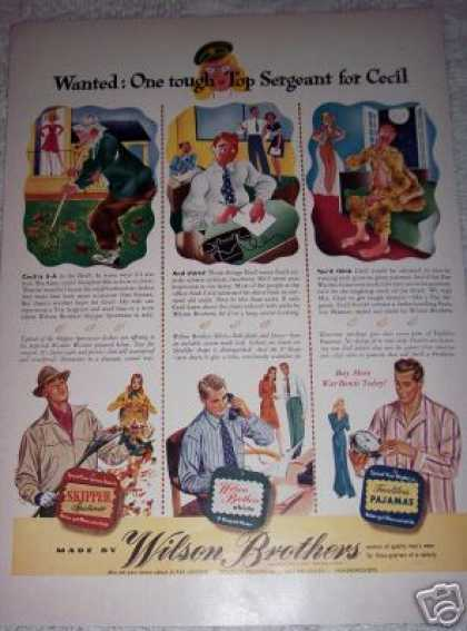 Mens Fashion Wilson Brothers Clothes (1942)