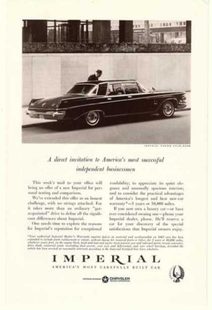 Chrysler Imperial Crown Four-Door Businessmen (1963)