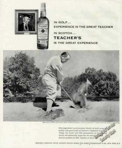Gene Sarazen From Sand Trap Photo Teacher's (1960)