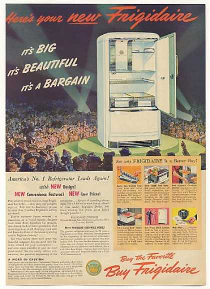 Frigidaire Refrigerator Big Beautiful Bargain (1940)