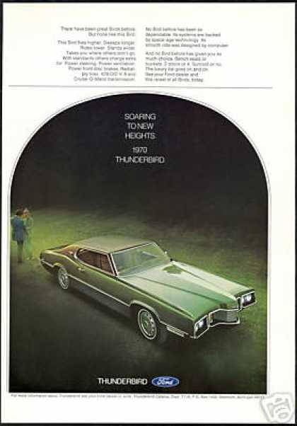 Green Ford 2 Door Thunderbird T-Bird Photo (1970)