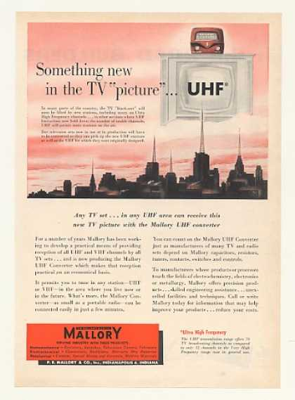 Mallory UHF TV Television Converter (1952)