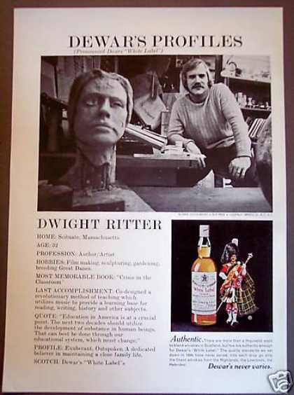 Dewar's Whisky Arist Dwight Ritter (1975)
