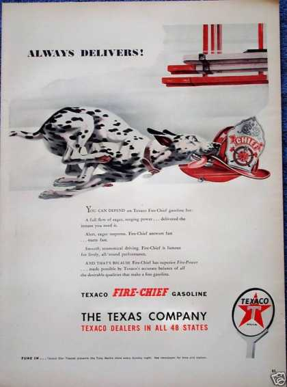 Texaco Fire Chief Dalmatian Running Fire Truck (1947)
