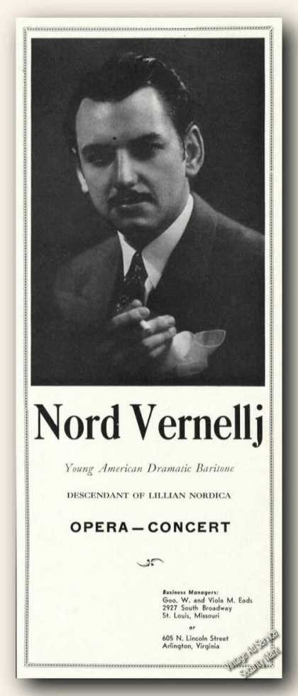 Nord Vernellj Photo Opera Antique Music (1942)