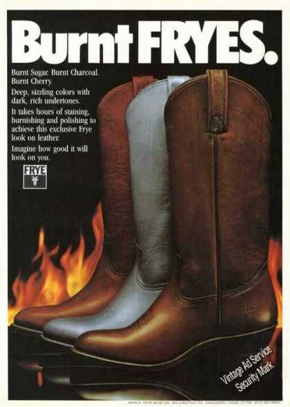 Burnt Fryes Men&#8217;s Boots (1984)