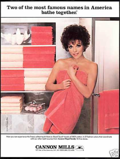 Joan Collins Cannon Mills Towels Vintage (1984)