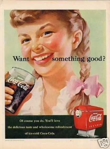 "Coca-cola Ad ""Want Something Good? (1951)"