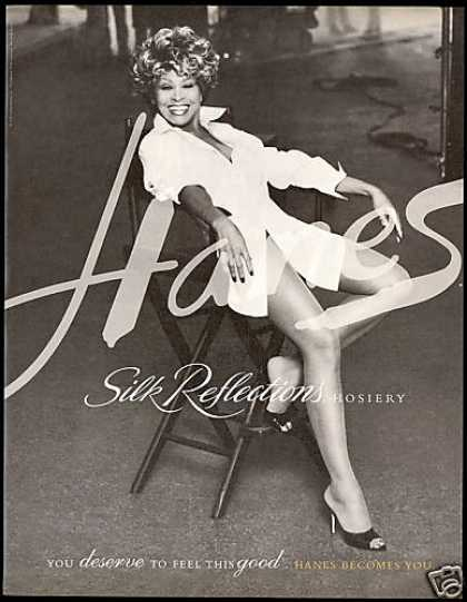 Tina Turner Hanes Silk Reflections Hosiery (1996)