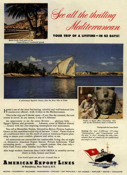 American Export Line's Mediterranean – See all the thrilling Mediterranean (1950)