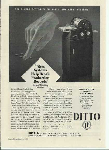 Ditto Business Machine (1942)