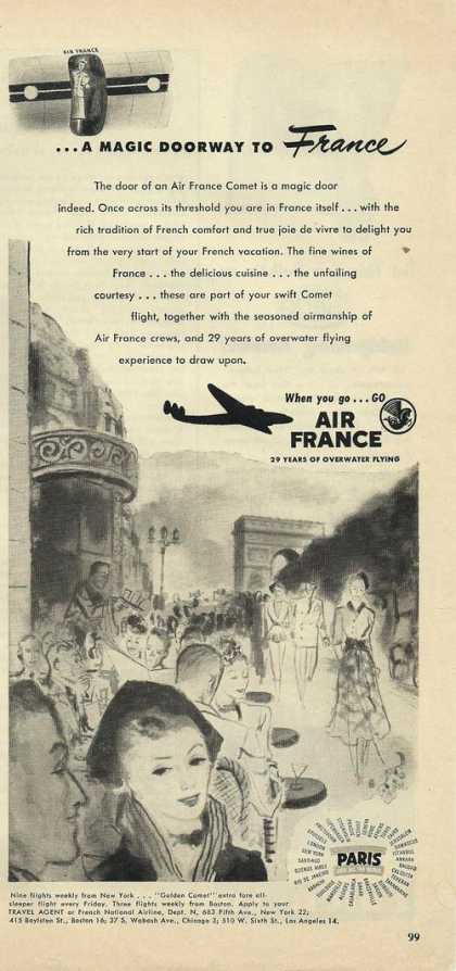 Magic Doorway To France Air France Airline (1948)