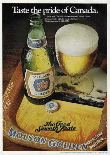 Molson Golden Taste the Pride of Canada Beer (1979)