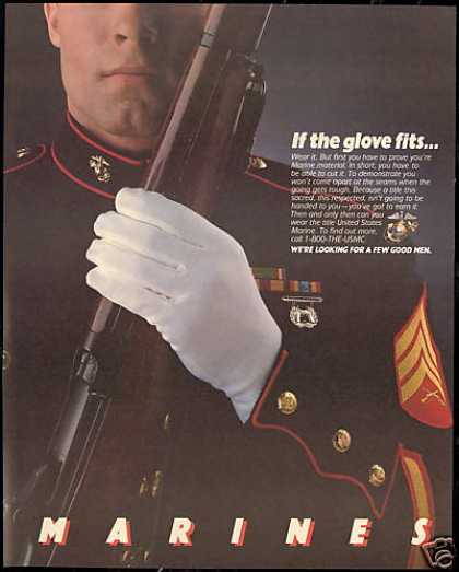 US United States Marines Recruiting Glove (1986)