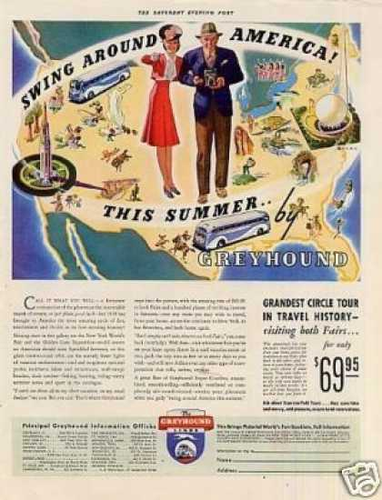 Greyhound Bus Color (1939)