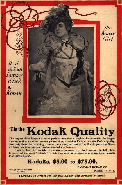Kodak – Tis the Kodak Quality (1902)