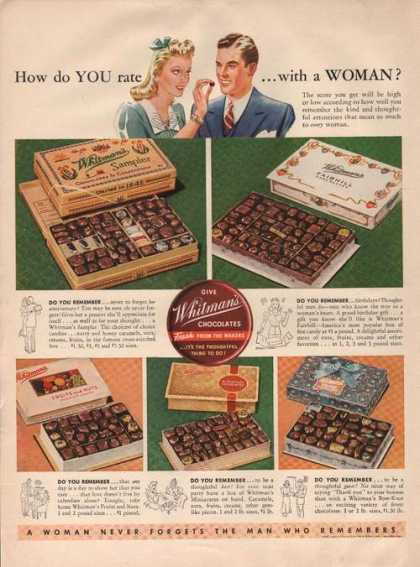 Whitmans Chocolates Fresh Candy (1941)