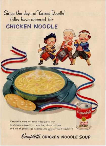 Campbell Kids Yankee Doodle Drummer Ad T (1953)