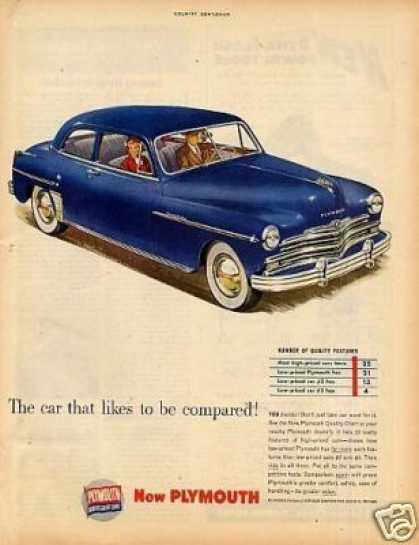 "Plymouth Car Ad ""The Car That Likes... (1949)"