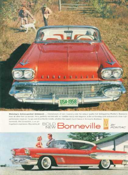 Pontiac Bonneville Convertible Ad Bird Dog (1958)