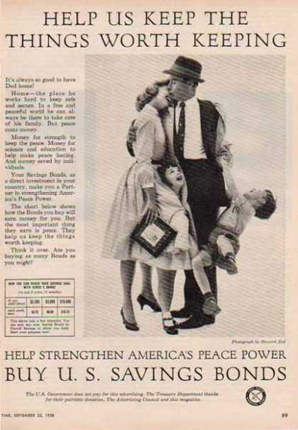 U.S. Savings Bond – Peace Power (1958)