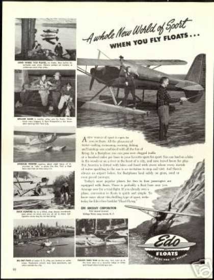 Edo Airplane Floatplane Fisherman Photo Plane (1947)