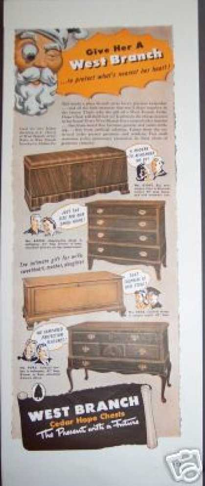 Original West Branch Cedar Hope Chest (1942)