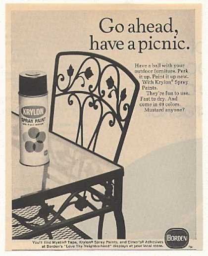 '70 Krylon Spray Paint Have Picnic Outdoor Furniture (1970)