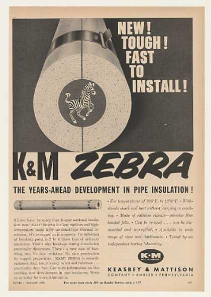 K&M Zebra Asbestos Pipe Insulation (1960)