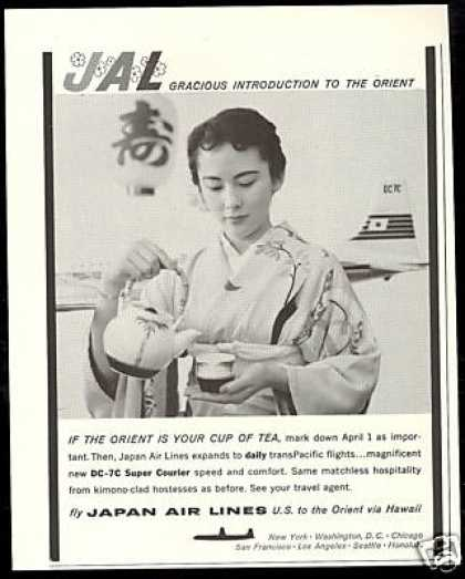 JAL Japan Airlines Hostess Cup of Tea (1958)
