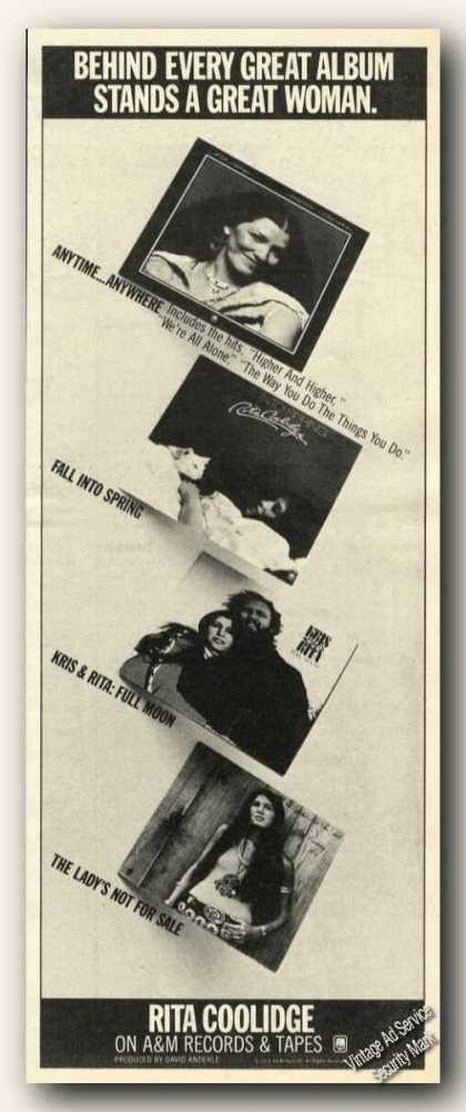 Rita Coolidge Photos Ad Music Album Promo (1978)