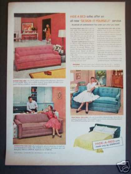 Simmons Hide a Bed Original Retro Decor (1956)