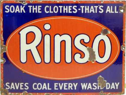 Rinso Soap Enamel Sign