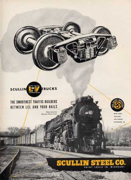 Scullin Steel Co. Train Railroad Trucks (1952)