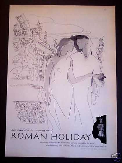 Roman Holiday Perfume Art (1956)