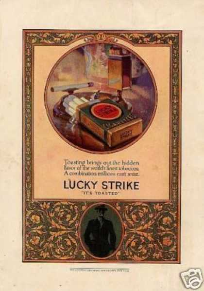 Lucky Strike Cigarettes Color (1924)
