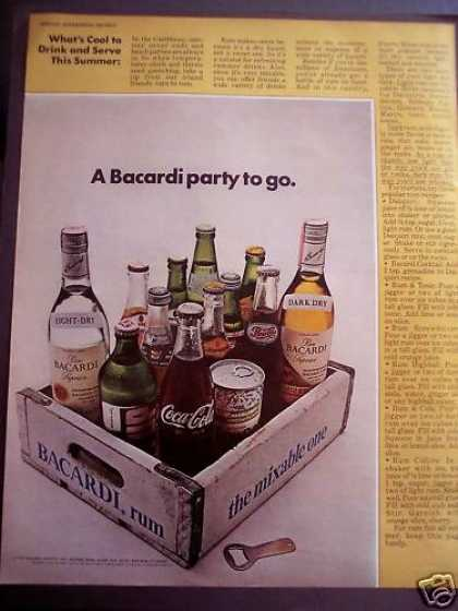 Barcardi Rum With Soft Drinks Recipes (1972)