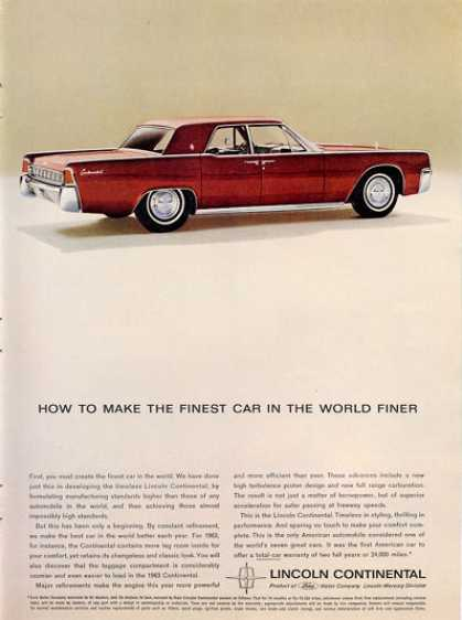 Lincoln Continental Suicide Doors (1963)