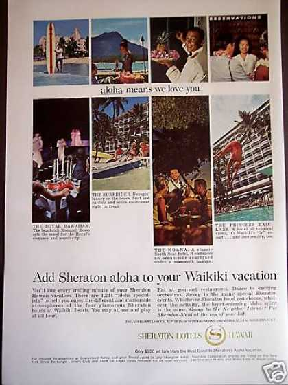 Shereton Hotels Waikiki Hawaii (1967)