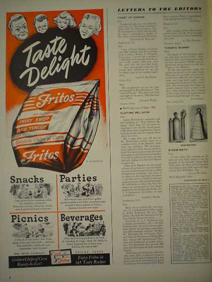 Fritos Corn Chips AND Dependable Champion Spark Plugs (1949)