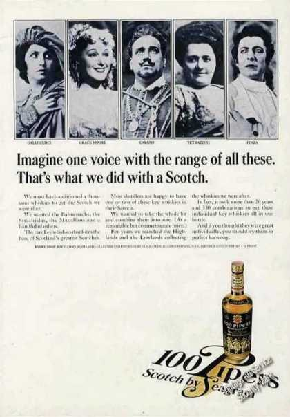 100 Pipers Scotch Famous Opera Singers Photos (1966)